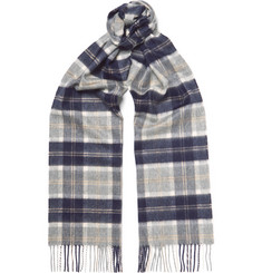 Johnstons of Elgin Checked Cashmere Scarf