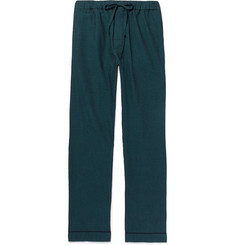 Desmond & Dempsey Striped Cotton-Seersucker Pyjama Trousers