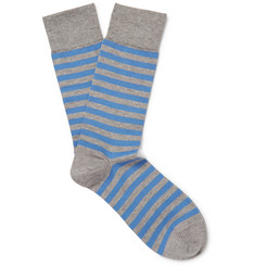 John Smedley Hecate Striped Sea Island Cotton-Blend Socks