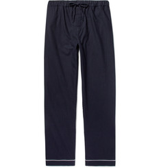 Desmond & Dempsey - Brushed-Cotton Twill Pyjama Trousers