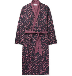 Desmond & Dempsey - Printed Cotton-Sateen Robe