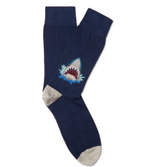 Corgi Intarsia Cotton-Blend Socks