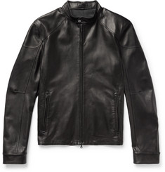 Connolly - Slim-Fit Café Racer Leather Jacket