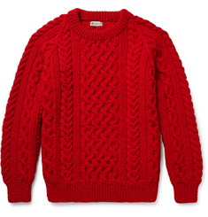Connolly Cable-Knit Wool Sweater