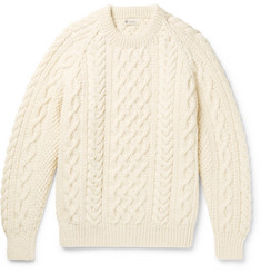 Connolly Aran-Knit Wool Sweater