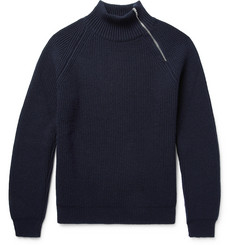 Connolly Ribbed Cashmere Half-Zip Sweater