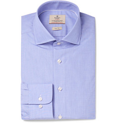 Hackett - Blue Mayfair Slim-Fit End-on-End Cotton Shirt