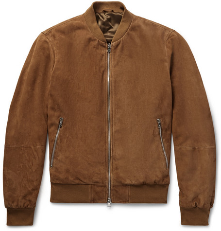 limited style search for official drop shipping Mayfair Suede Bomber Jacket