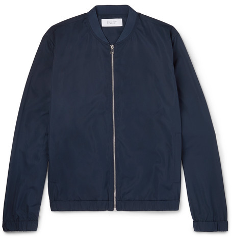 Shell Bomber Jacket - Navy