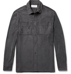 Enlist Slim-Fit Suede Overshirt