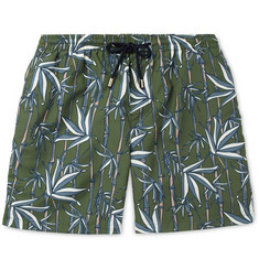 Enlist Mid-Length Printed Swim Shorts