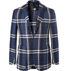 Polo Ralph Lauren Morgan Slim-Fit Unstructured Checked Linen and Cotton-Blend Blazer