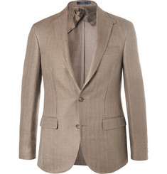 Polo Ralph Lauren Morgan Green Slim-Fit Unstructured Herringbone Linen Blazer