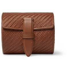 Ermenegildo Zegna Pelle Tessuta Leather Watch Roll