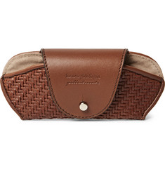 Ermenegildo Zegna - Pelle Tessuta Leather Sunglasses Case