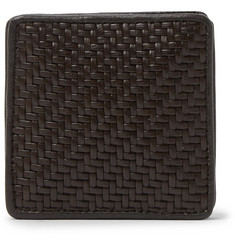 Ermenegildo Zegna Pelle Tessuta Leather Coin Wallet