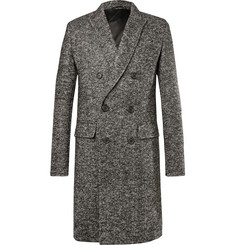 Mr P. - Double-Breasted Herringbone Wool-Blend Overcoat