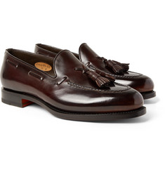 Santoni Polished-Leather Tasselled Loafers