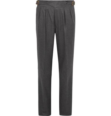Manny Pleated Virgin Wool And Mohair-blend Trousers - BlackRubinacci IkJCm