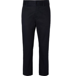 Burberry Runway Cropped Cotton-Twill Chinos