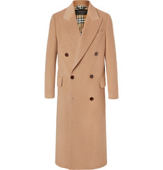 Burberry Runway Double-Breasted Felted Camel Hair Coat