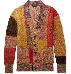 Burberry Runway Patchwork Wool-Blend Cardigan