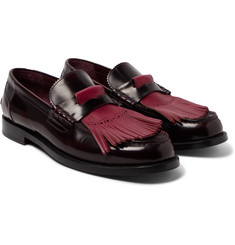 Burberry - Runway Polished-Leather Kiltie Loafers