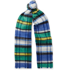Burberry Runway Checked Wool Scarf