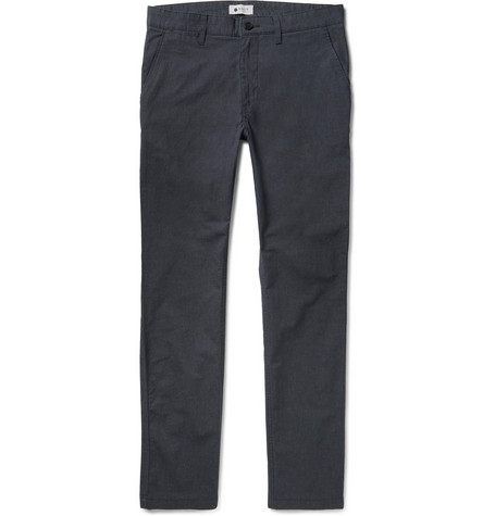 Marco Slim-fit Stretch-cotton Twill Chinos - Blue