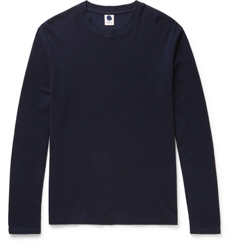 Clive Cotton And Modal-blend T-shirt - Navy