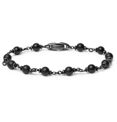 David Yurman - Blackened Sterling Silver and Onyx Bracelet