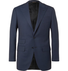 Thom Sweeney Navy Slim-Fit Wool-Twill Suit Jacket