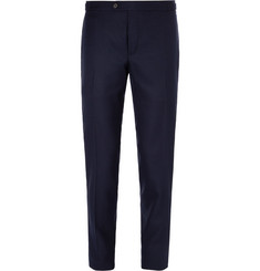 Thom Sweeney Slim-Fit Wool-Hopsack Trousers