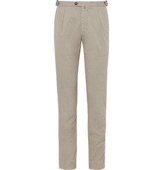 Thom Sweeney Pleated Stretch-Cotton Chinos