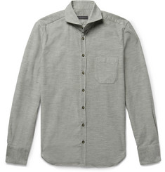 Thom Sweeney - Slim-Fit Cutaway-Collar Cotton-Corduroy Shirt