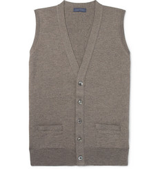 Thom Sweeney Slim-Fit Mélange Merino Wool Sweater Vest