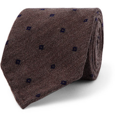 Thom Sweeney 7cm Embroidered Wool and Silk-Blend Tie