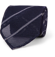 Thom Sweeney 8cm Striped Silk Tie