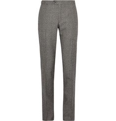 Thom Sweeney Grey Slim-Fit Puppytooth Wool Suit Trousers