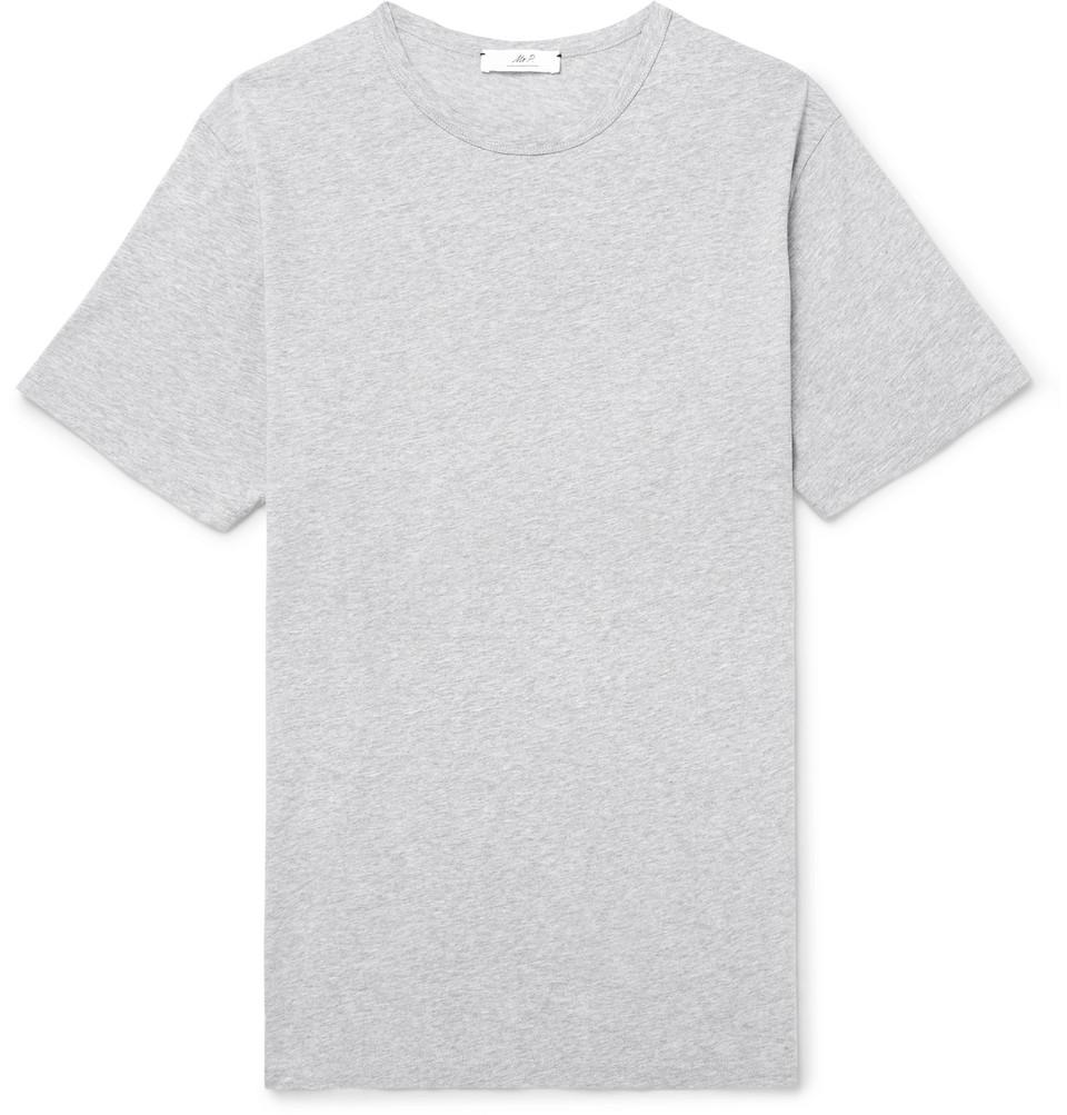 Mr P. Mélange Cotton-Jersey T-Shirt