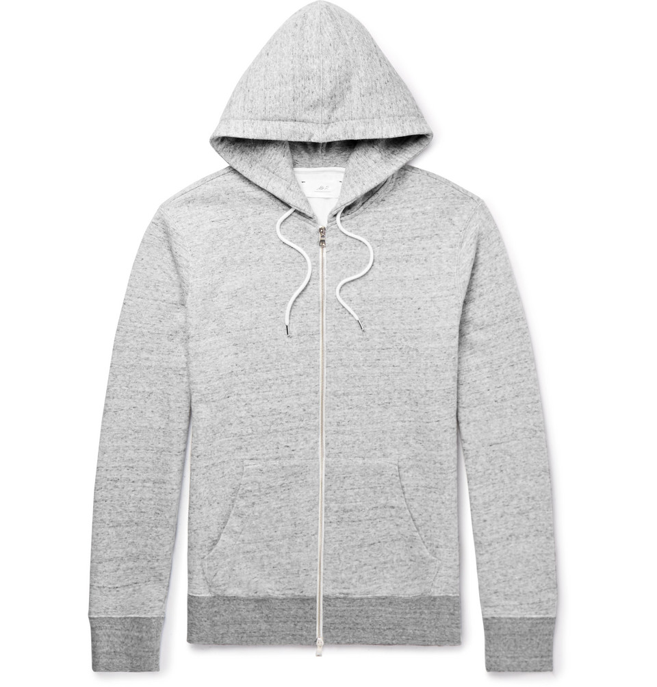 Mr P. Mélange Loopback Cotton-Jersey Hoodie