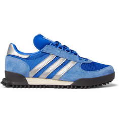 adidas Originals Marathon TR Mesh, Suede and Leather Sneakers