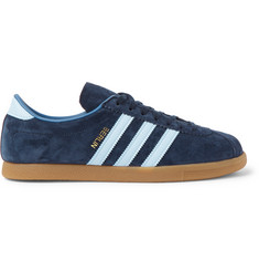 adidas Originals Berlin Leather-Trimmed Suede Sneakers