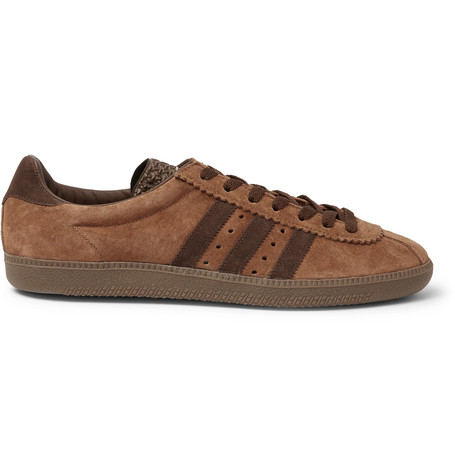 Padiham Spzl Textured Leather-trimmed Suede Sneakers adidas Originals tqid6