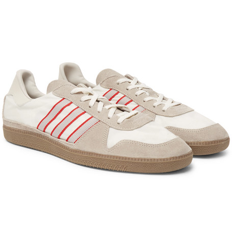 Hulton Spezial Leather Trimmed Shell And Suede Sneakers by Adidas Originals