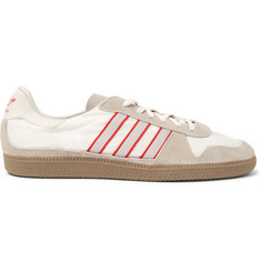 adidas Originals Hulton Spezial Leather-Trimmed Shell and Suede Sneakers