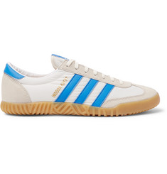 adidas Originals Indoor Kreft Spezial Leather-Trimmed Shell and Suede Sneakers