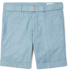 Officine Generale Julian Slim-Fit Cotton-Chambray Shorts