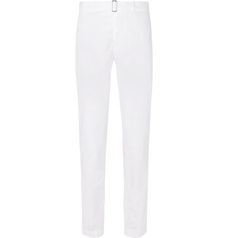 Julian Garment-dyed Cotton-twill Chinos - White