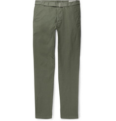 Officine Generale Julian Garment-Dyed Cotton-Twill Chinos